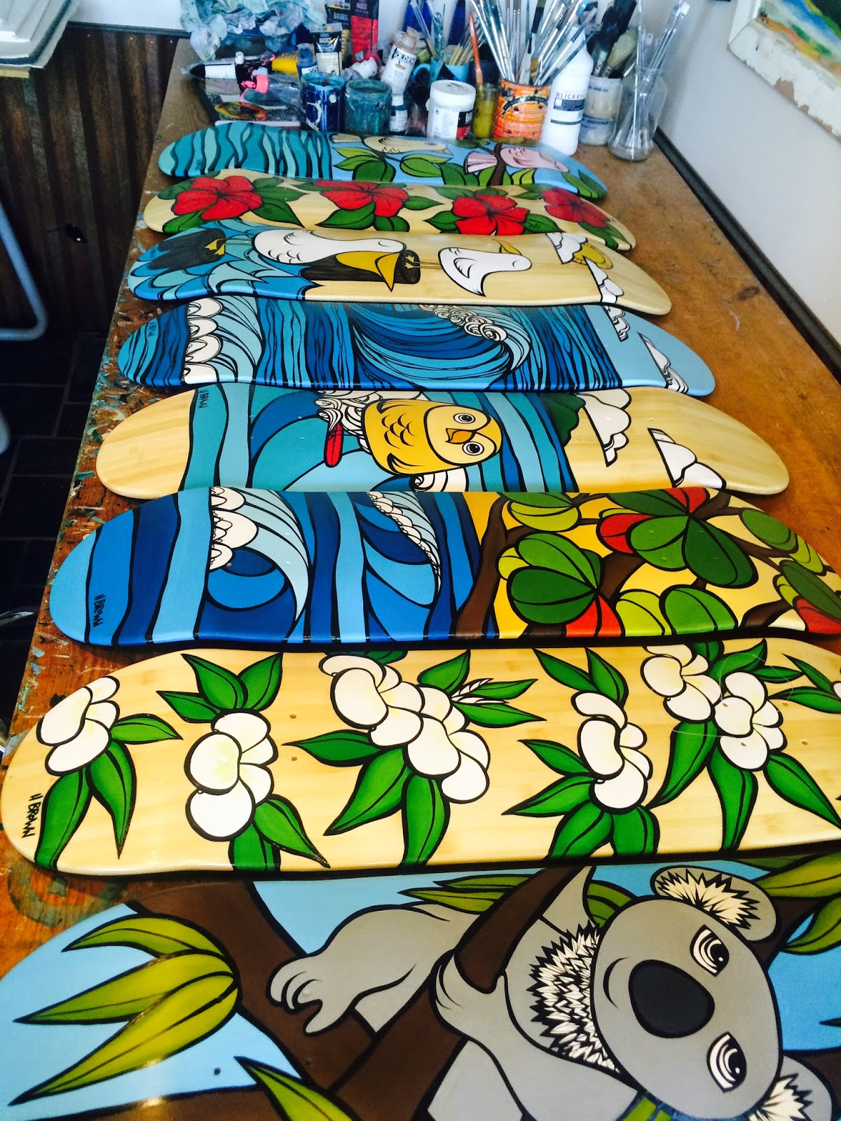 skateboard art heather brown