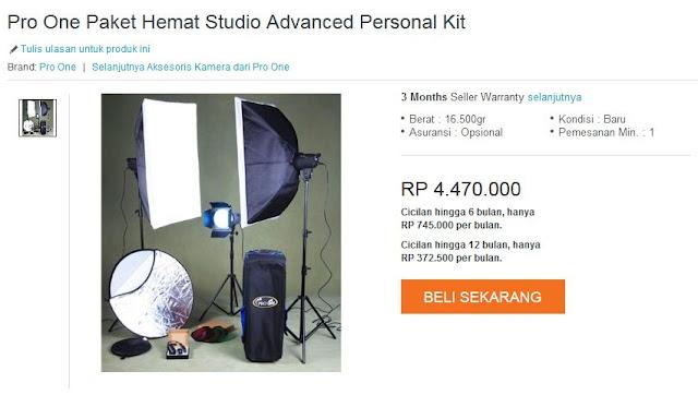 Wujudkan Mimpi menjadi Scott Kelby di #DiskonMengguncangSemesta Harbolnas Lazada Indonesia Pro One paket studio advanced