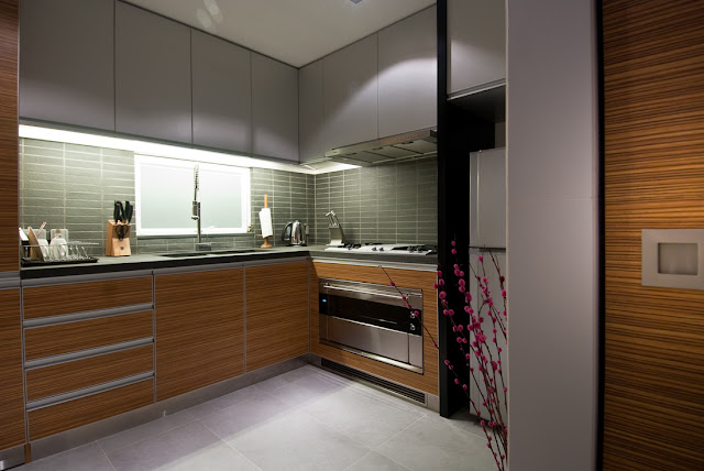 Picture of modern kitchen as part of the Hong Kong apartment design