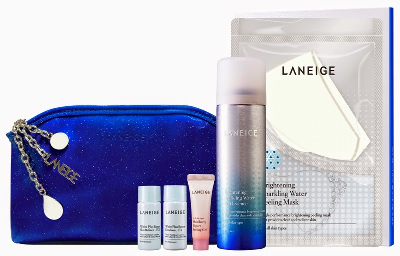 Laneige Sparkling Water Essentials, Gift Set, Laneige 2014 Holiday Collection, Laneige, Holiday Set, Christmas Set, Skincare, Makeup, Beauty