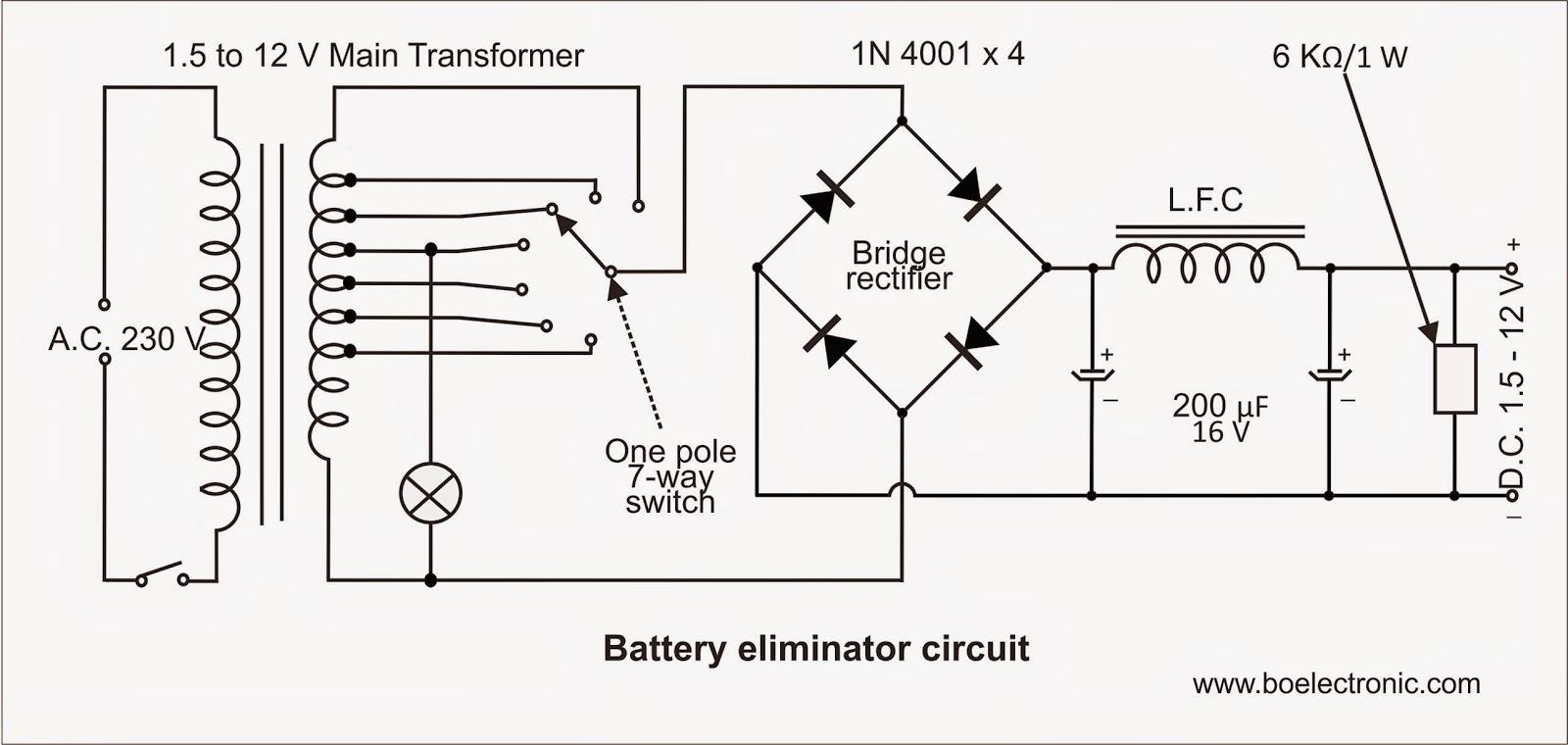bec battery eliminator circuit