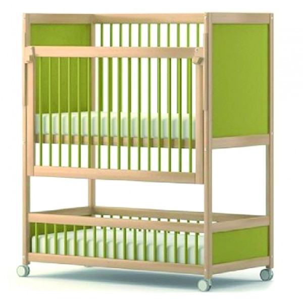 lit b b barreaux superpos. Black Bedroom Furniture Sets. Home Design Ideas