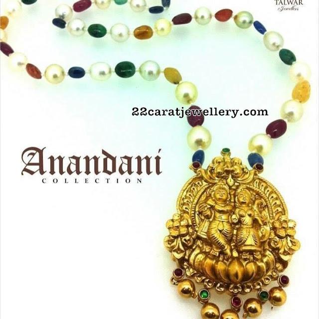 Radha Krishna Pendant with Colorful Beads Set