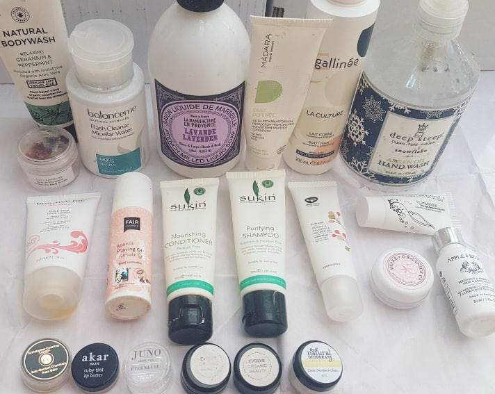 green beauty empties - plastic packaging