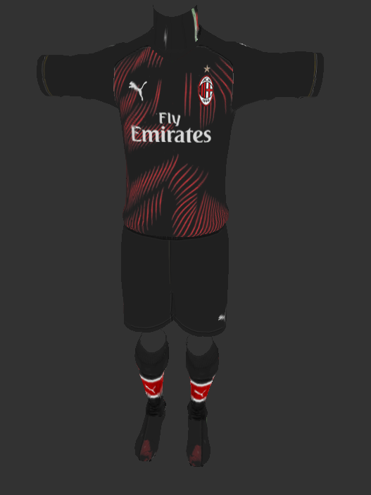 PES 2013 AC Milan Third Kits update by Auvergne81