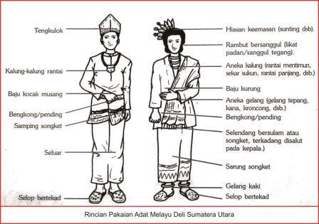 rincian baju adat melayu deli sumatera utara