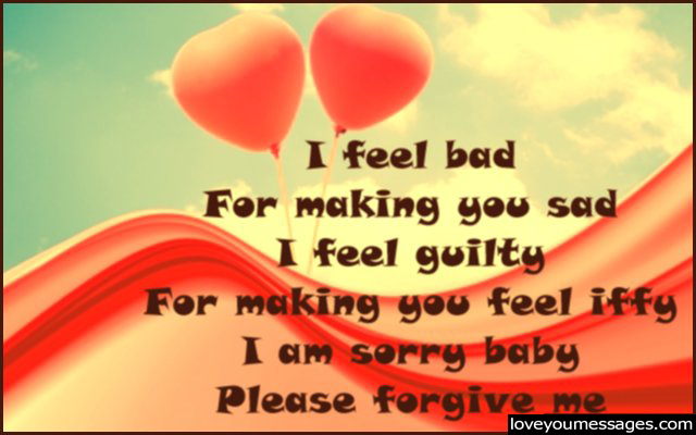 Apologising messages to your girlfriend