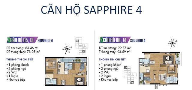Căn hộ số 05, 06, 13, 14 tòa Sapphire 4- Goldmark City