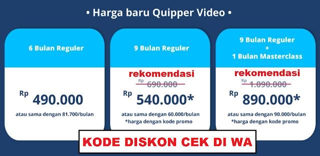 3 Paket Isyarat Diskon Quipper Video 2018