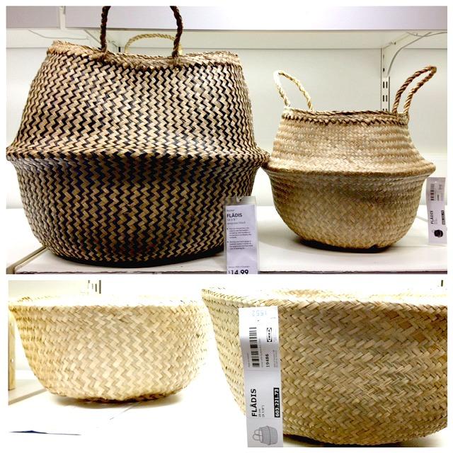 Ikea Fladis basket, DIY pom pom basket