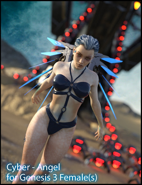 DAZ 3D - CyberAngel - The Character for Genesis 3 Female