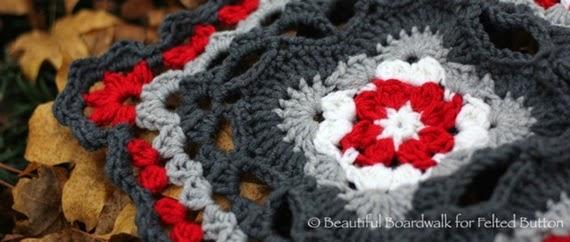 Cottage Garden Blanket crochet pattern by Susan Carlson of Felted Button (Colorful Crochet Patterns) Photo by Sandra Veneman of Beautiful Boardwalk.