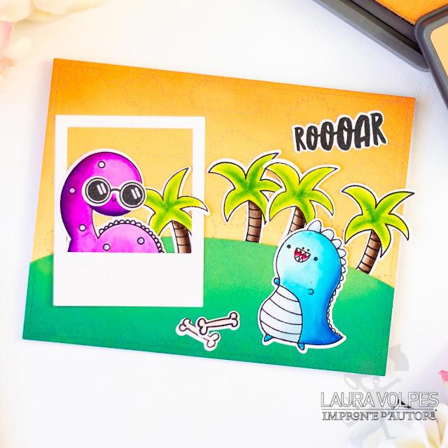 Scene card with Impronte d'Autore Dinos