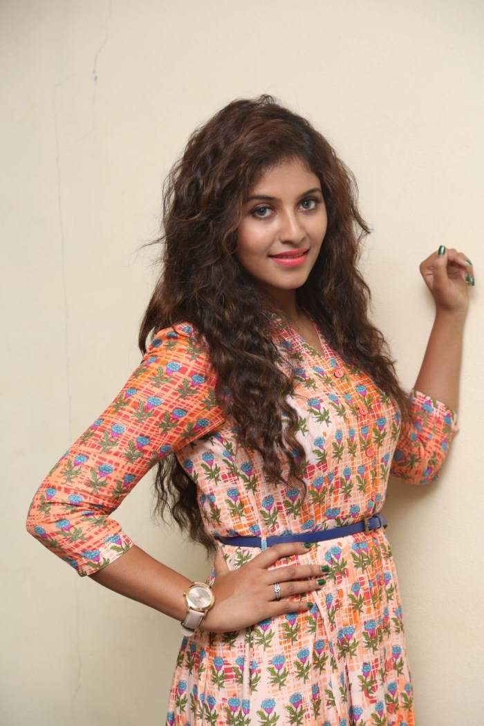 Anjali Latest Gorgeous Stills In Orange Dress