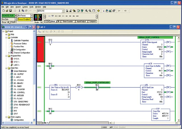 Arvind: plc and scada interface using DDE.