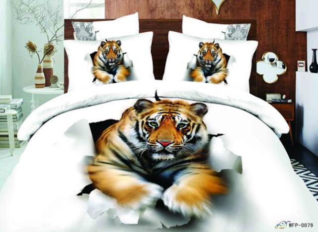 copriletto 3D con tigre