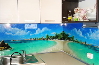 3D backsplash designs for modern kitchen