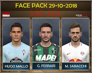 PES 2017 Facepack 29-10-2018 by Mo Ha