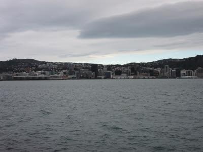 Wellington, llegada desde el ferry, Nueva Zelanda