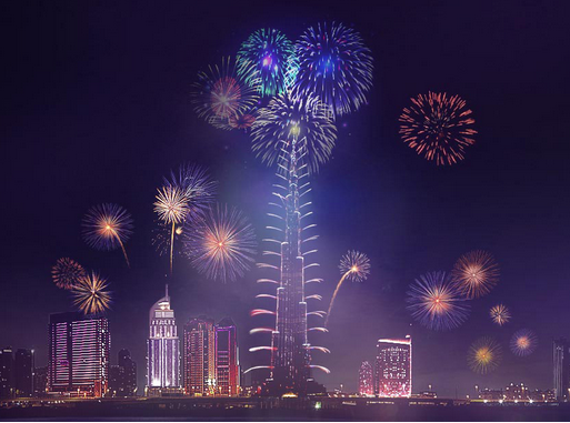 Video: 2015 New Year's Eve Fireworks at Burj Khalifa, Downtown Dubai