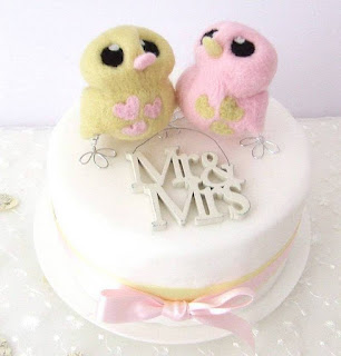 Funny and Cute Bird Wedding Cake Topper