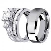 Tungsten Carbide Wedding Ring Sets