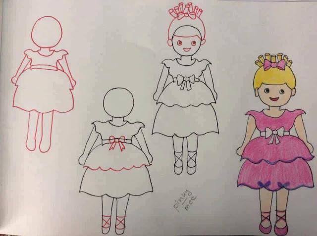 Belajar menggambar tokoh kartun untuk anak-anak 3