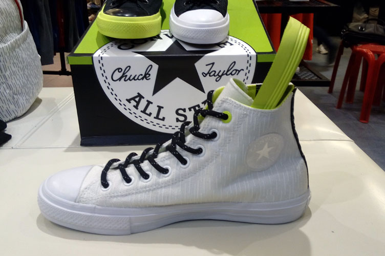 282f8dcf47b1 Chuck Taylor All Star II Shield Canvas in White Lava on display at the  Converse Shop