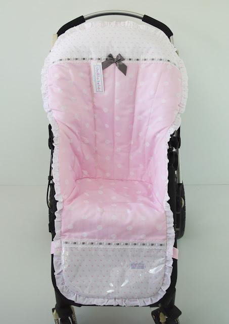 vestidura Bugabo en jacquard y plumeti rosa