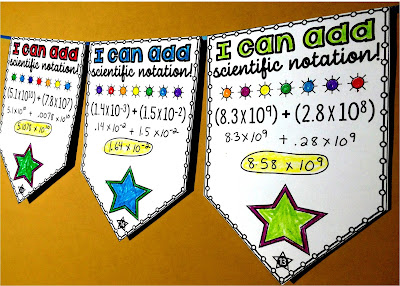 Scientific Notation math pennant activities