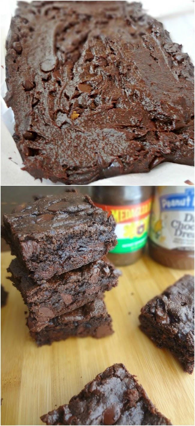 Healthier Dark Chocolate Brownies