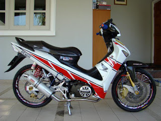 modifikasi supra x 125 road race