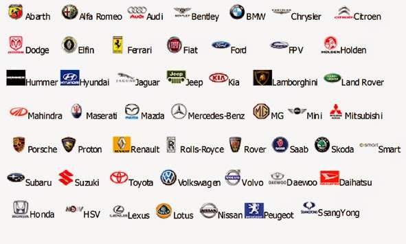 Car Brand Names >> Car Brand Logos And Names List