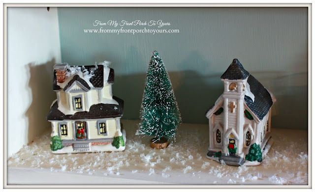 Christmas village-farmhouse Christmas-Secretary-A Merry little Christmas- From My Front Porch To Yours