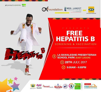 World Hepatitis Day : Okyeame Kwame To Organise Free Screening And Vaccination