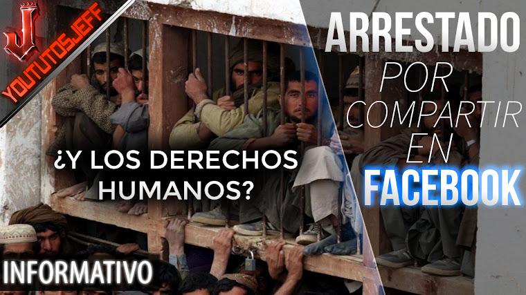 Primer arresto por compartir en Facebook una publicación sobre...