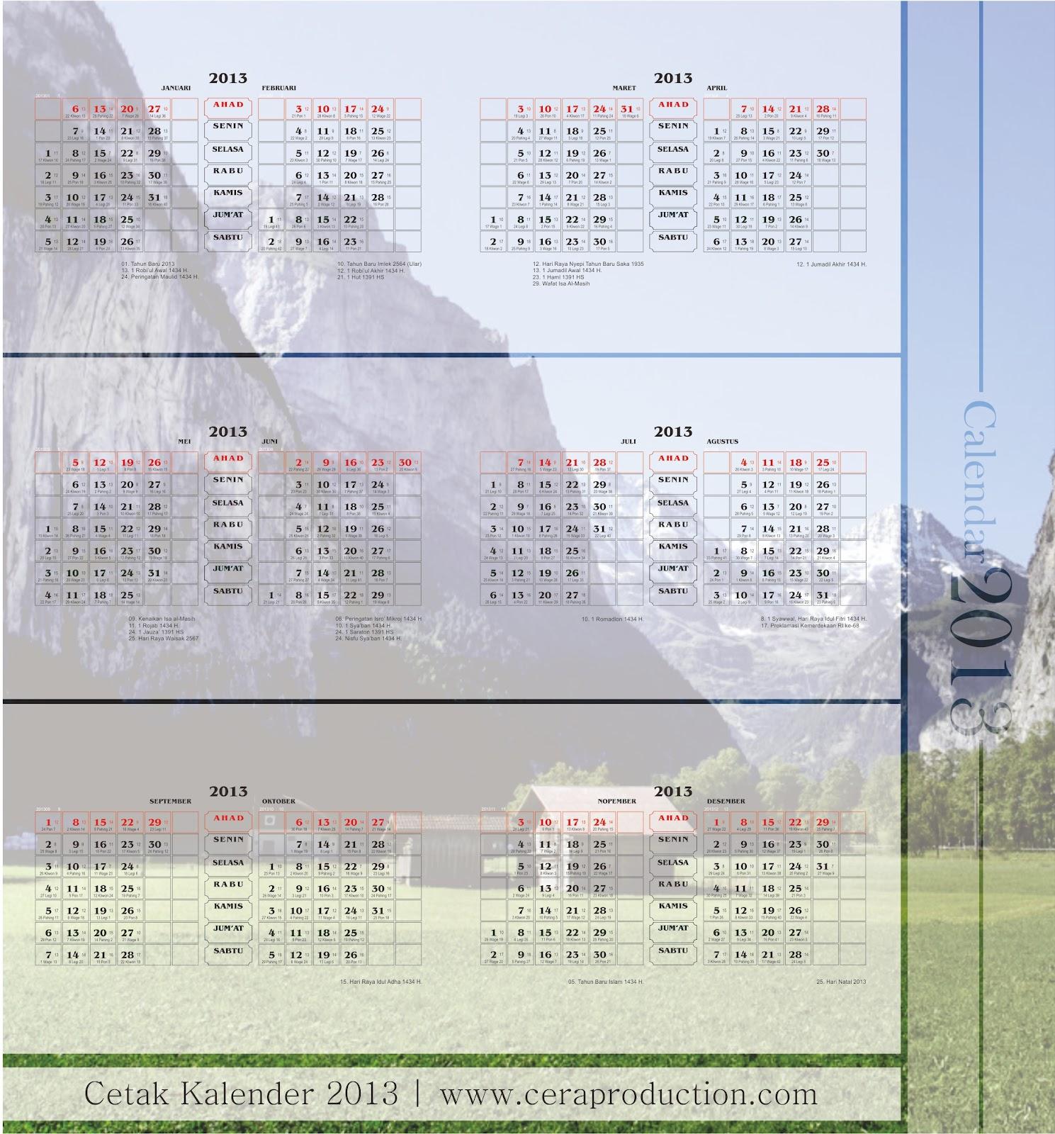 Gambar Kalender Desember