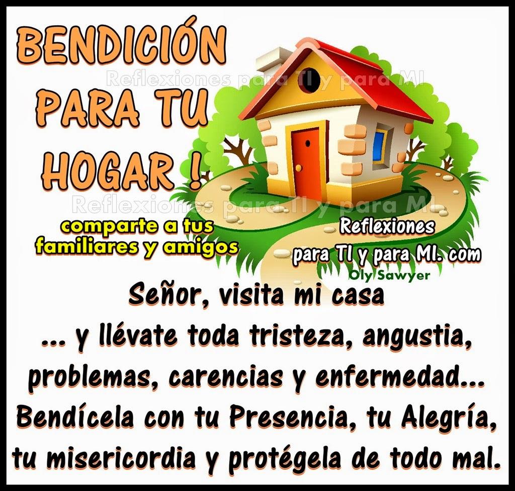 Señor, visita mi casa.... y llévate toda tristeza, angustia, problemas, carencias y enfermedad...