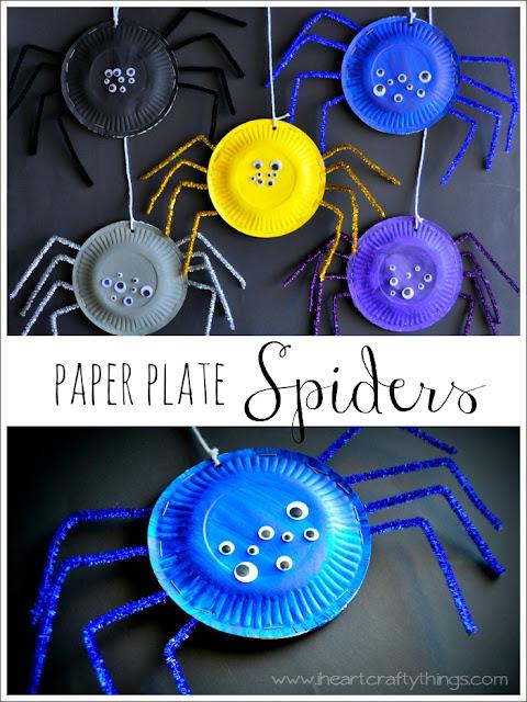 paper plate spider kids crafts