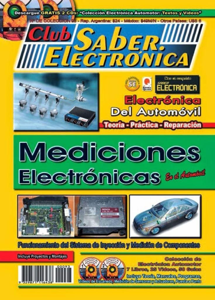 Club Saber Electrónica – 7. Electrónica del Automóvil: Mediciones electrónicas en el automóvil