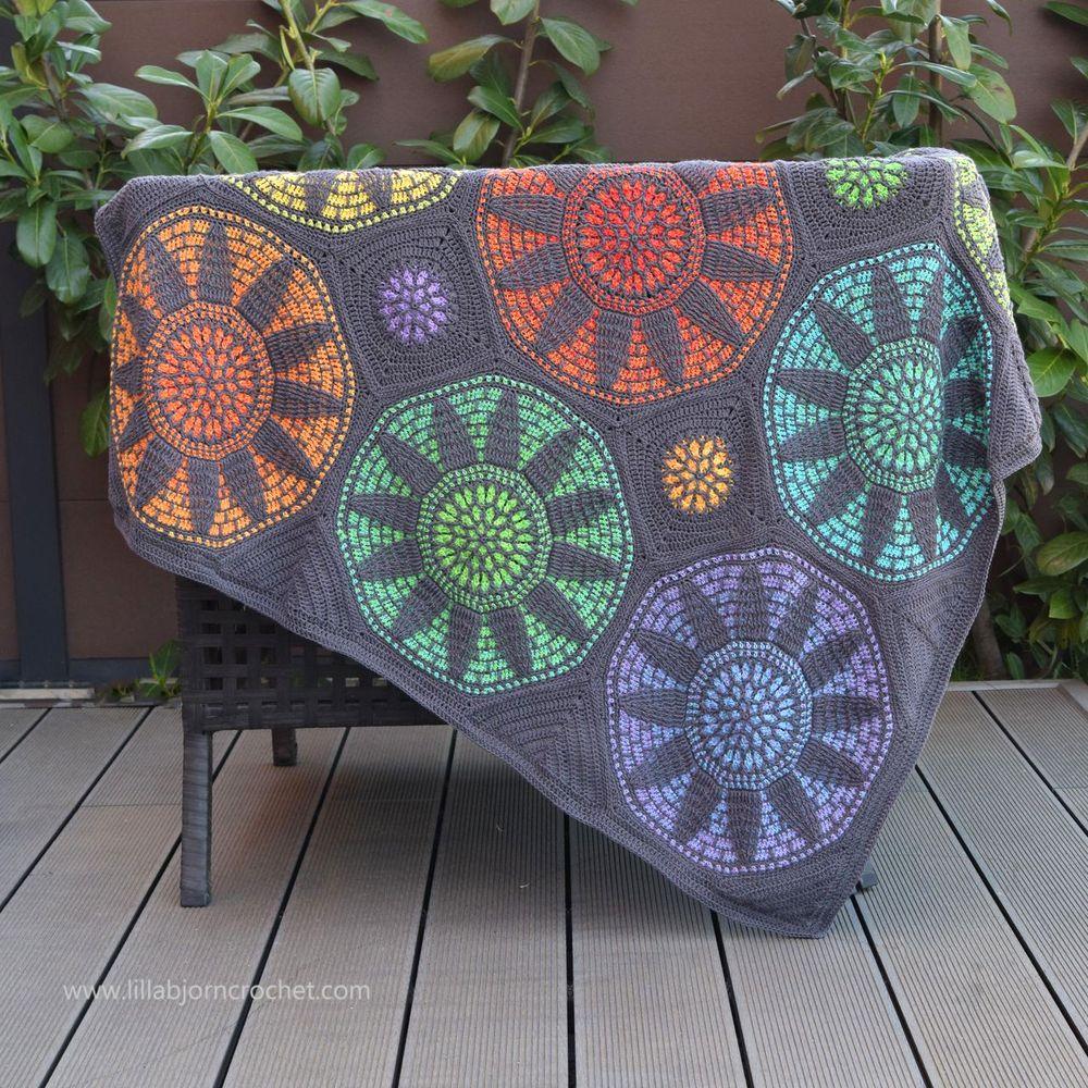 Stained Glass Wonder blanket_crochet pattern by www.lillabjorncrochet.com