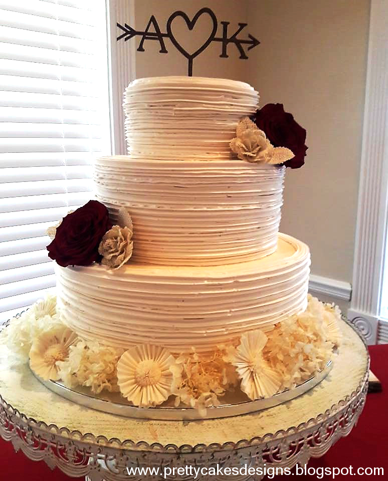 Rustic Chic Wedding Cakes: Pretty Cakes Designs