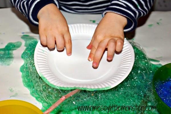 how to make bubble paints.