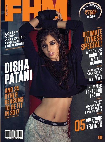 Disha Patani On The Cover of FHM Magazine India May 2017