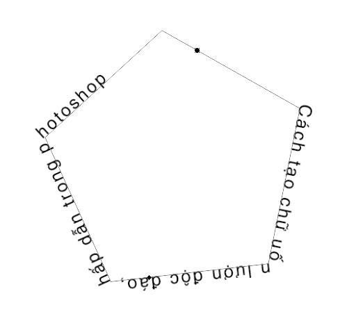 Sử dụng công cụ Text Tool để viết chữ theo đường Path