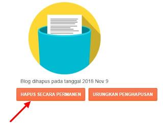 Hapus Blog Secara Permanen