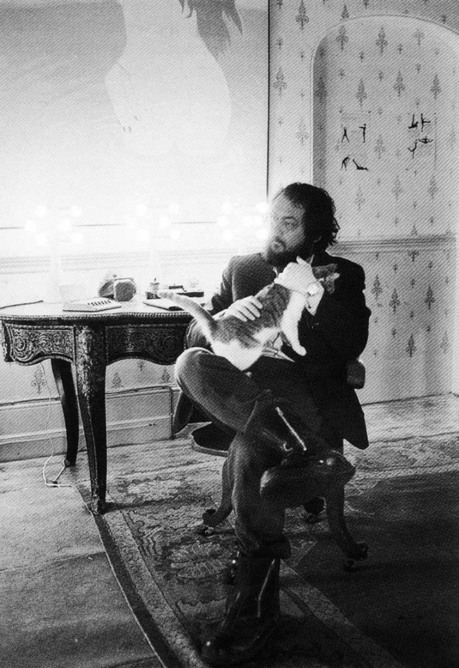 cat with Stanley Kubrick