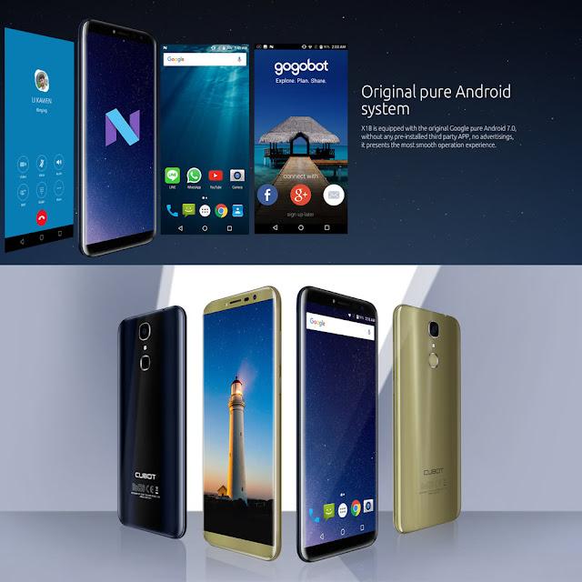 هاتف بمواصفات خارقة و بسعر منخفض CUBOT X18 Fingerprint 4G smartphone