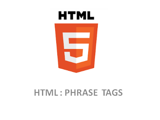 HTML – Phrase Tags