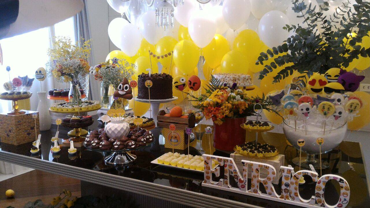 dia mais feliz Festa Emojis # Decoracao De Festa Tema Emoji